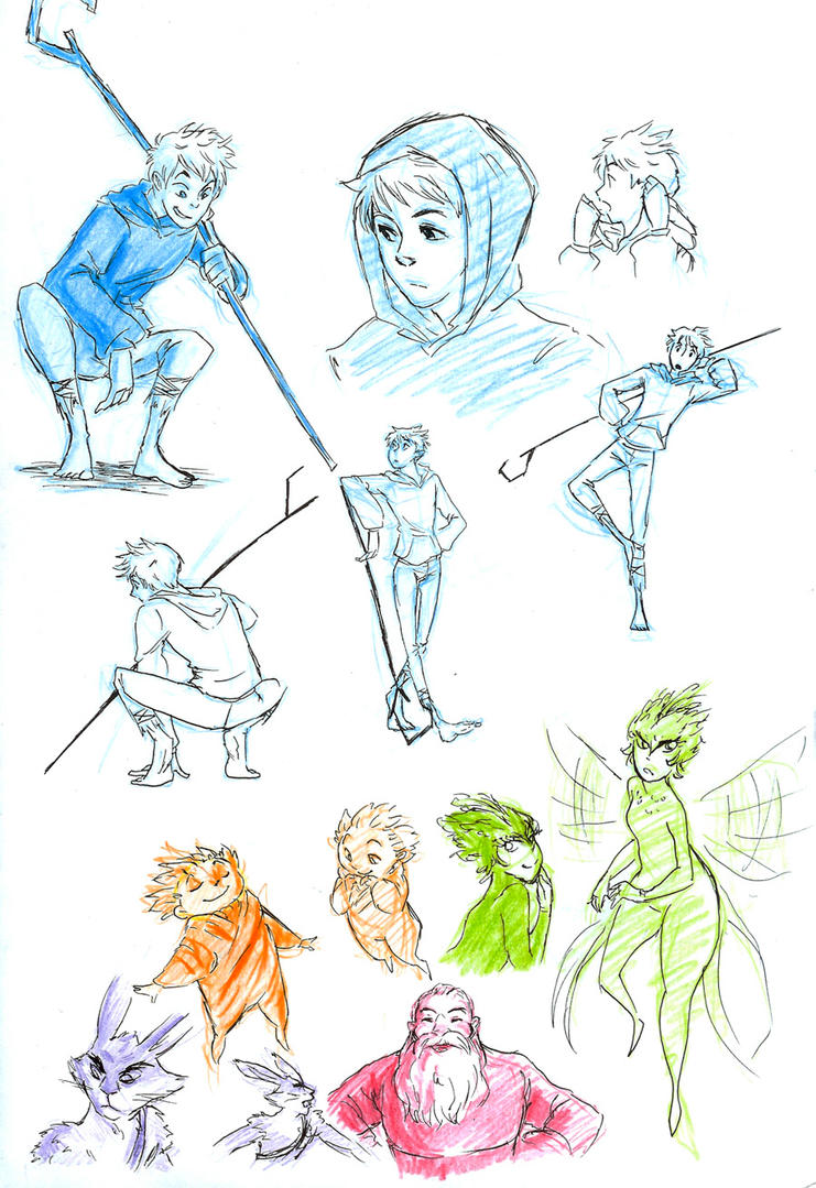 RotG sketches by TheFandomWhore