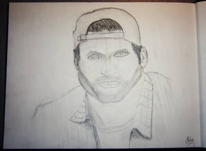 Sketch of Scott Patterson for drawing class