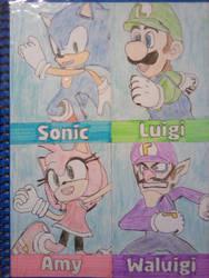 Tokyo 2020 - Sonic, Luigi, Amy and Waluigi