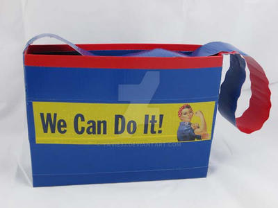 Rosie 'We Can Do It!' duct tape purse by yavie33