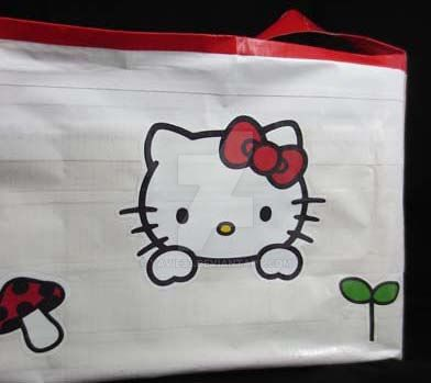 Hello Kitty duct tape bag by yavie33