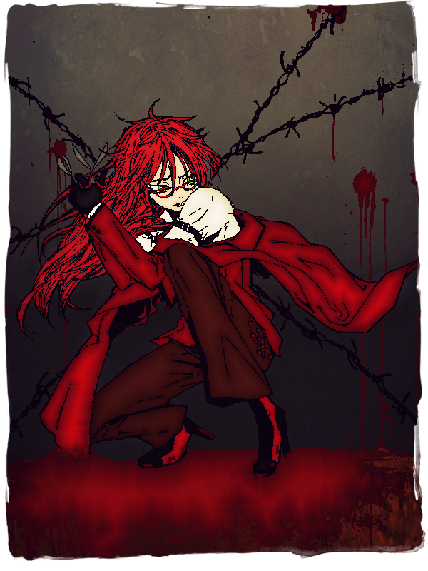 Grell Sutcliff (Colored lineart) by IBinked