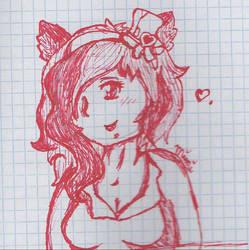 red Mimi sketch by luna4994