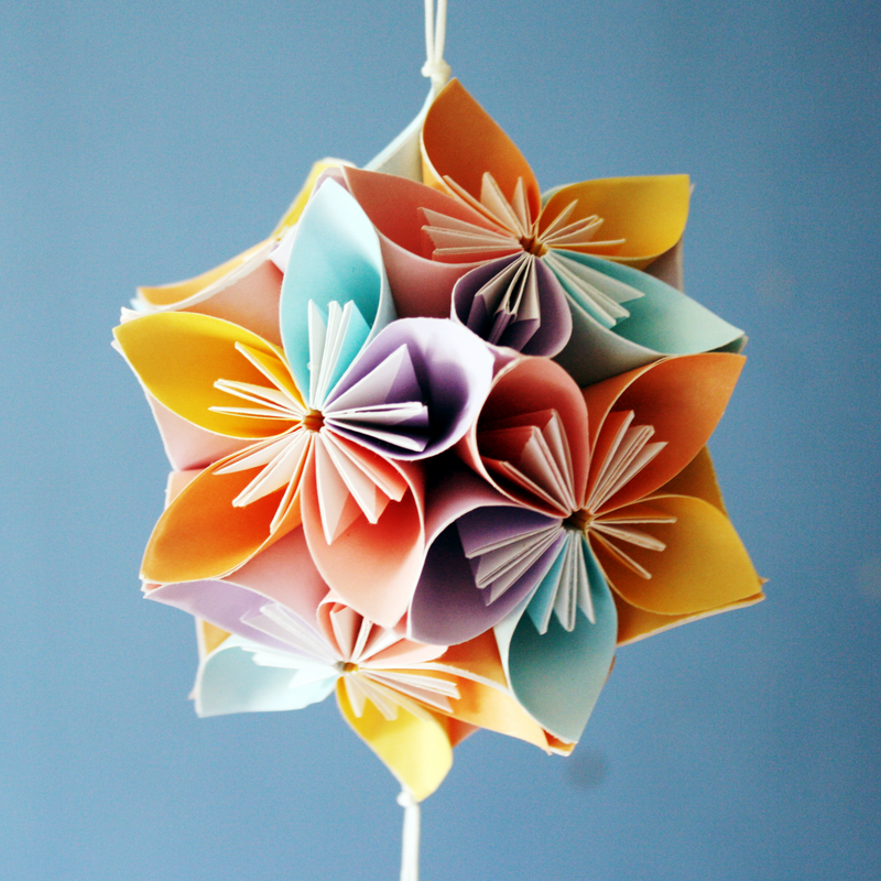 How to make easy origami flowers video instructions see how to make easy origami kusudama flower if you want to make whole kusudama you will need to make several kusudama flowers and glue their points to mightylinksfo