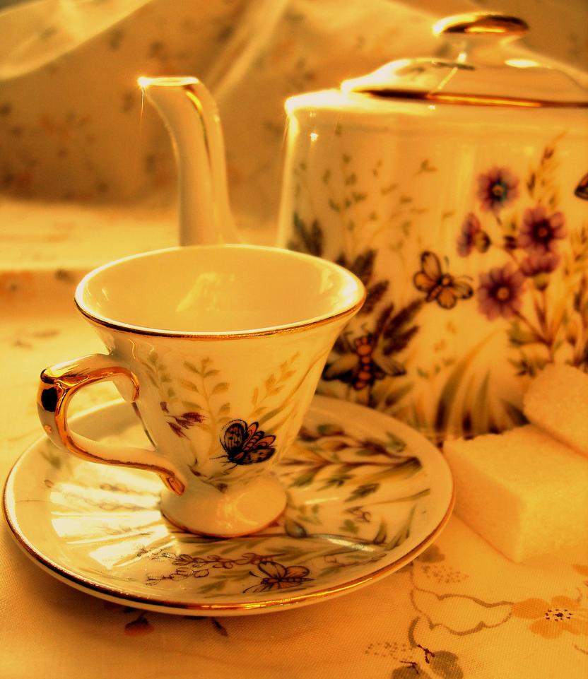najromanticnija soljica za kafu...caj - Page 2 Tea_with_spring_by_olga28-d3ay8g3