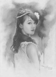 with my pencil