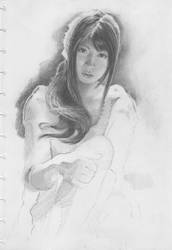 study with pencil on paper