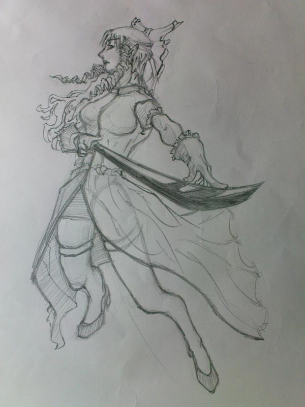 Female Warrior by KinKiat