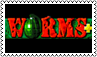 Worms plus stamp by black-cat16-stamps