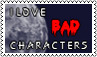 I love bad characters by black-cat16-stamps