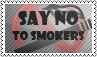 No to smokers by black-cat16-stamps