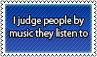 Judging people by music by black-cat16-stamps