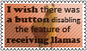 Disabling llamas by black-cat16-stamps
