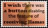 Disabling llamas by black-cat16-stamps