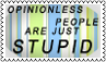 Opinionless people