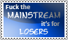 Fuck the mainstream by black-cat16-stamps
