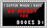 No money for books by black-cat16-stamps