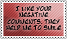 Negative comments by black-cat16-stamps