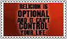 Religion is optional by black-cat16-stamps