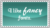 Fancy fonts by black-cat16-stamps