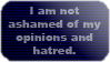 I am not ashamed