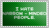 Narrow-minded people