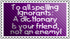 speling ignorands by black-cat16-stamps