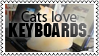 Cats love keyboards by black-cat16-stamps