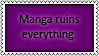 Manga USUALLY spoils everything by black-cat16-stamps