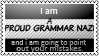 Grammar nazi by black-cat16-stamps