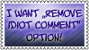 Remove comment option by black-cat16-stamps