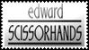 Edward Scissorhands by black-cat16-stamps