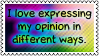 My opinion 2 by black-cat16-stamps