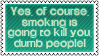 Smoking 2 by black-cat16-stamps