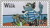 Wilk i zajac by black-cat16-stamps