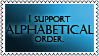 Alphabetical order by black-cat16-stamps