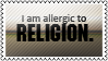 Allergic to religion by black-cat16-stamps