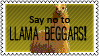 Llama beggars by black-cat16-stamps