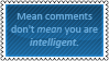 Mean comments by black-cat16-stamps
