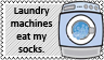 Laundry machine vs socks by black-cat16-stamps
