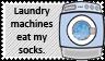 Laundry machine vs socks by black-cat16-stamps