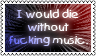 Die without music by black-cat16-stamps