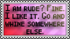 I am rude by black-cat16-stamps