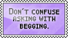 Asking and begging by black-cat16-stamps