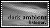 Dark ambient music listener by black-cat16-stamps