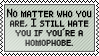 Homophobia by black-cat16-stamps
