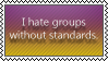 Standarless groups