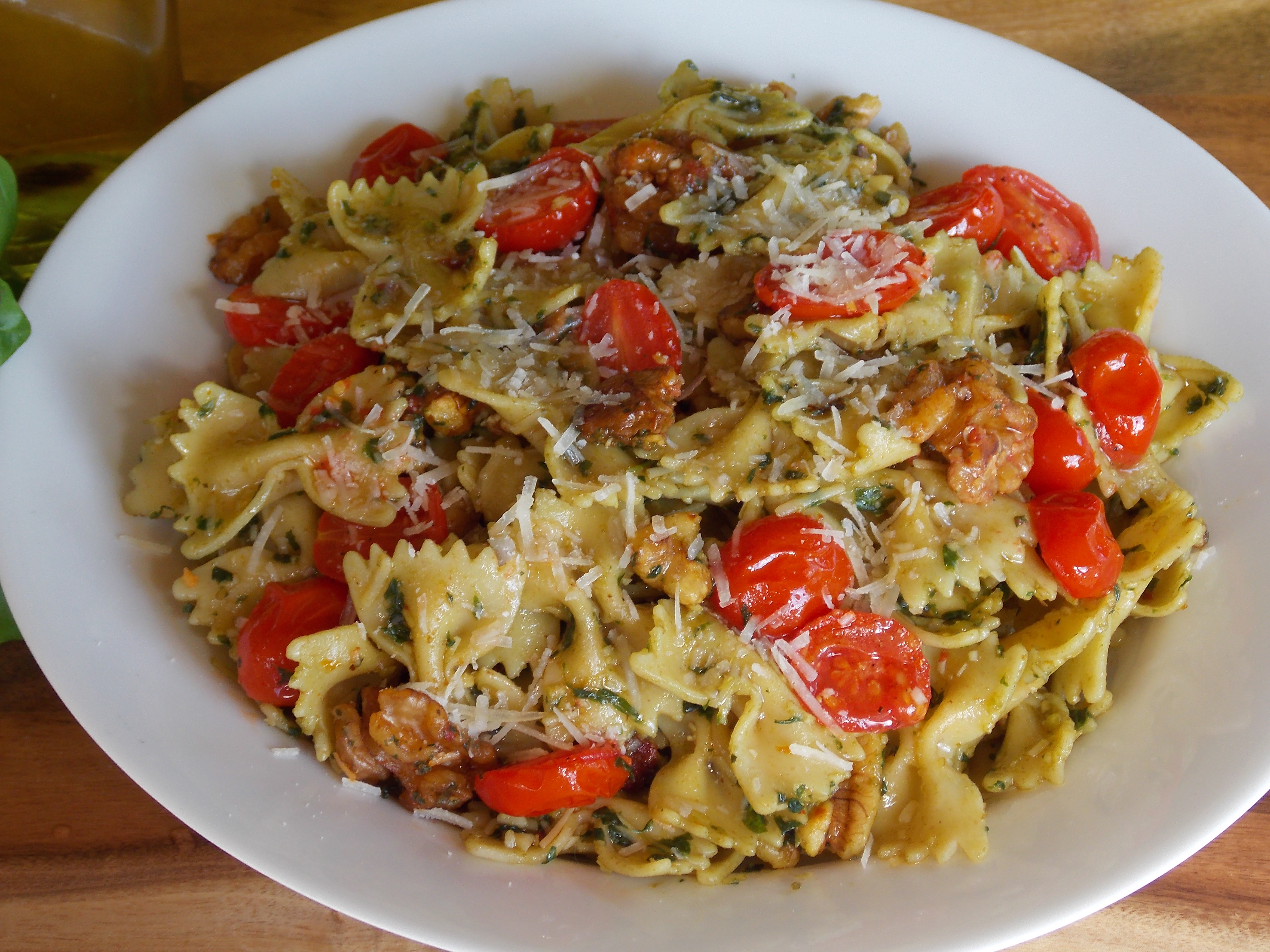 October recipe challenge bow tie pasta pesto by for October recipes