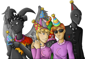 There's a Party on Derse by YamiRedPen