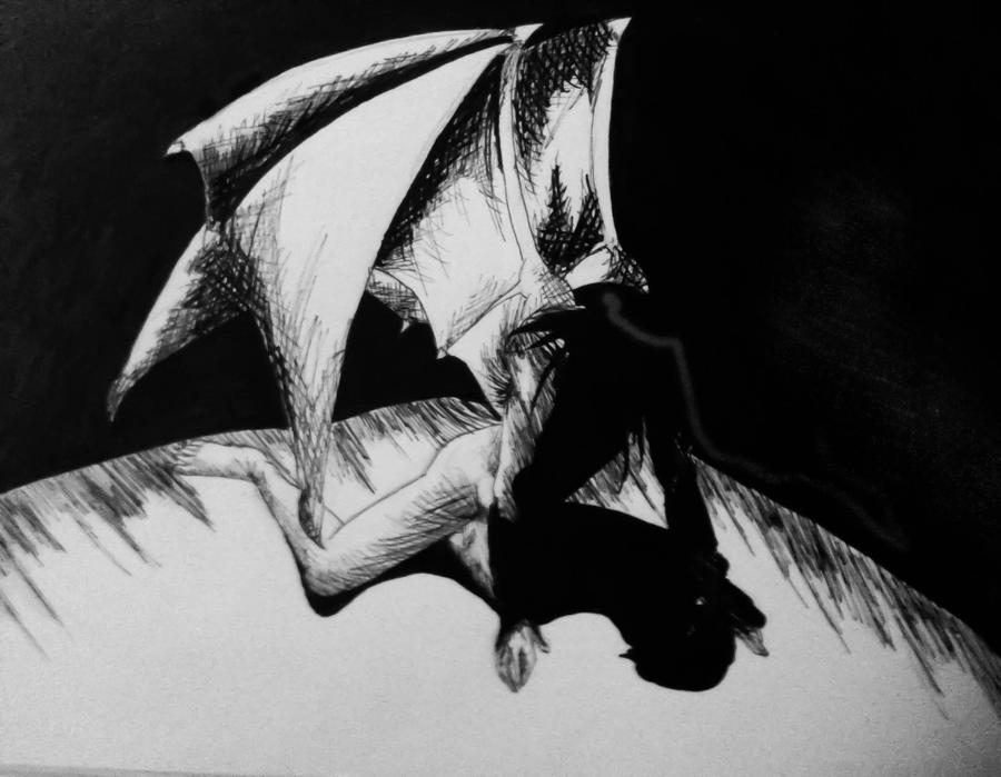 Blank and White: Dragon by Morbid-Perhaps